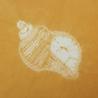 shibori stitch resist conch shell