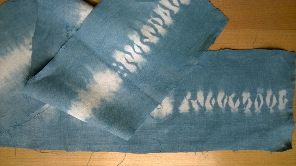 Finished dyed fabric piece