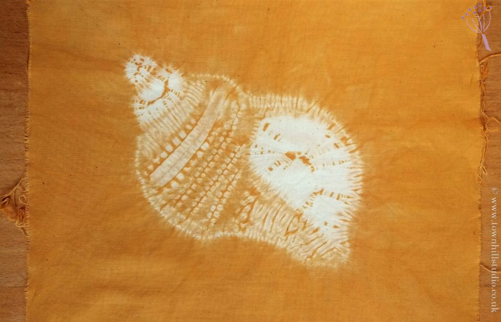 how to make a shibori shell pattern
