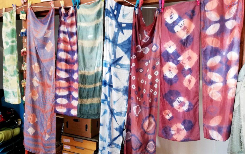 Shibori silk scarf workshop